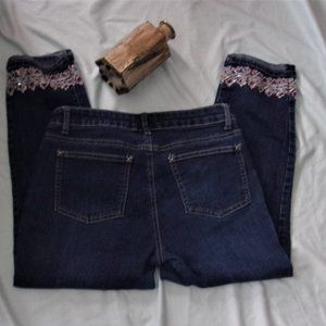 W62 size 4  capris capri denim jeans womens pants